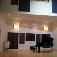Music studio with Yamaha grand piano