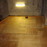 Floated floors 2 - plywood layer to support the concrete