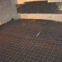 Floated floors 3 - reinforced steel for the concrete slab