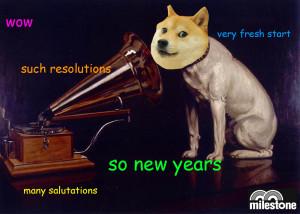 New Year's His Master's Voice Doge Milestone
